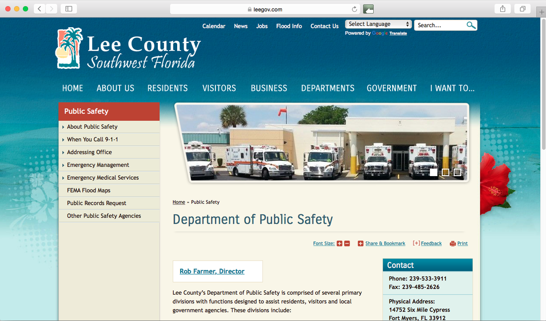 Lee County EMS Pine Island Florida